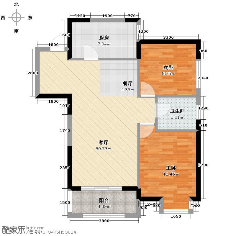 宏府�翔九天90.77㎡4/5/11/12号楼B7户型10室