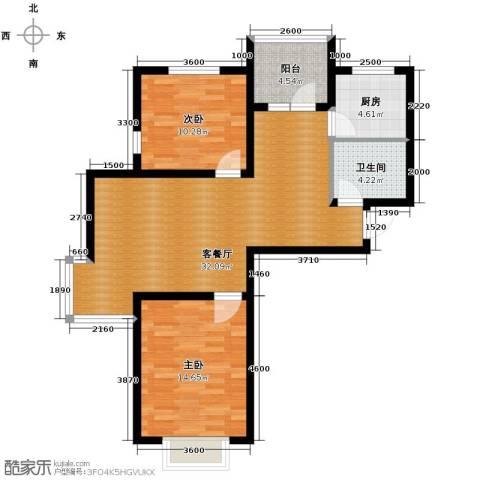 金厦・龙第世家2室2厅1卫0厨95.00㎡户型图