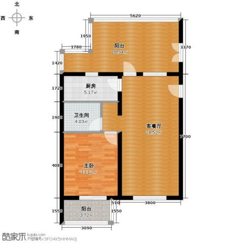 金隅花石匠1室2厅1卫0厨73.50㎡户型图