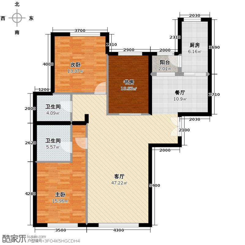 东湖湾149.36㎡301-3-1户型10室