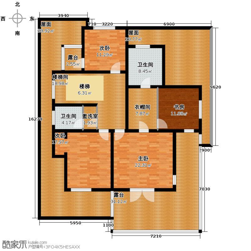 贻成水木清华224.08㎡别墅二期西G二层户型10室