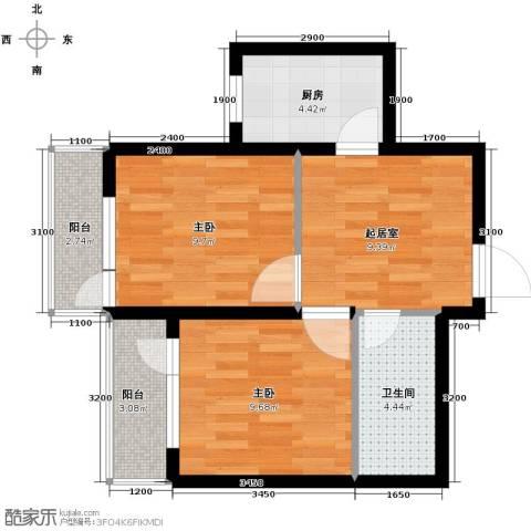 海伦堡2室1厅1卫0厨59.00㎡户型图