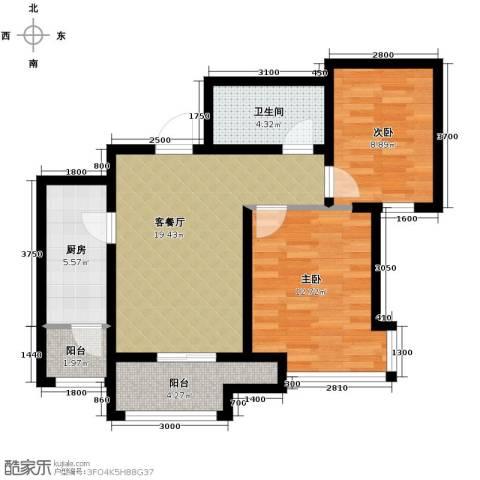 首玺2室2厅1卫0厨89.00㎡户型图