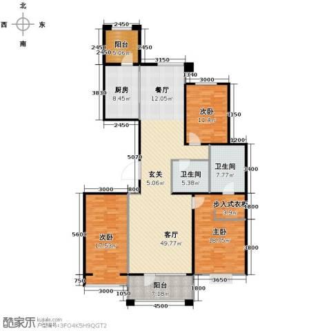 梧桐府3室2厅2卫0厨177.00㎡户型图