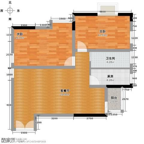 梦泽园美美公馆2室2厅1卫0厨103.00㎡户型图