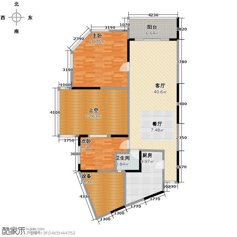 聚丰江山天下76.79㎡7679m26米挑高院馆户型10室