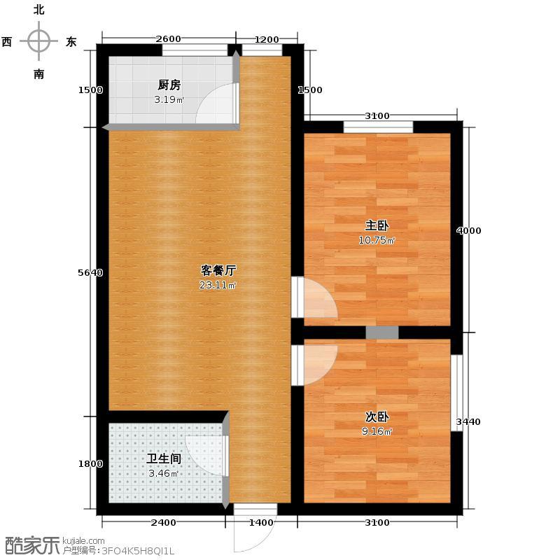 达成馨苑72.04㎡1号楼B户型10室