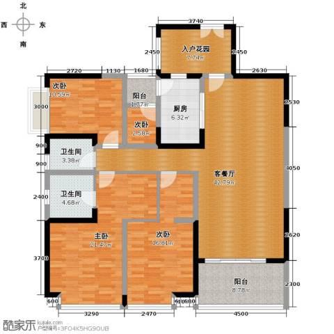 仁和春天国际花园4室2厅2卫0厨156.00㎡户型图