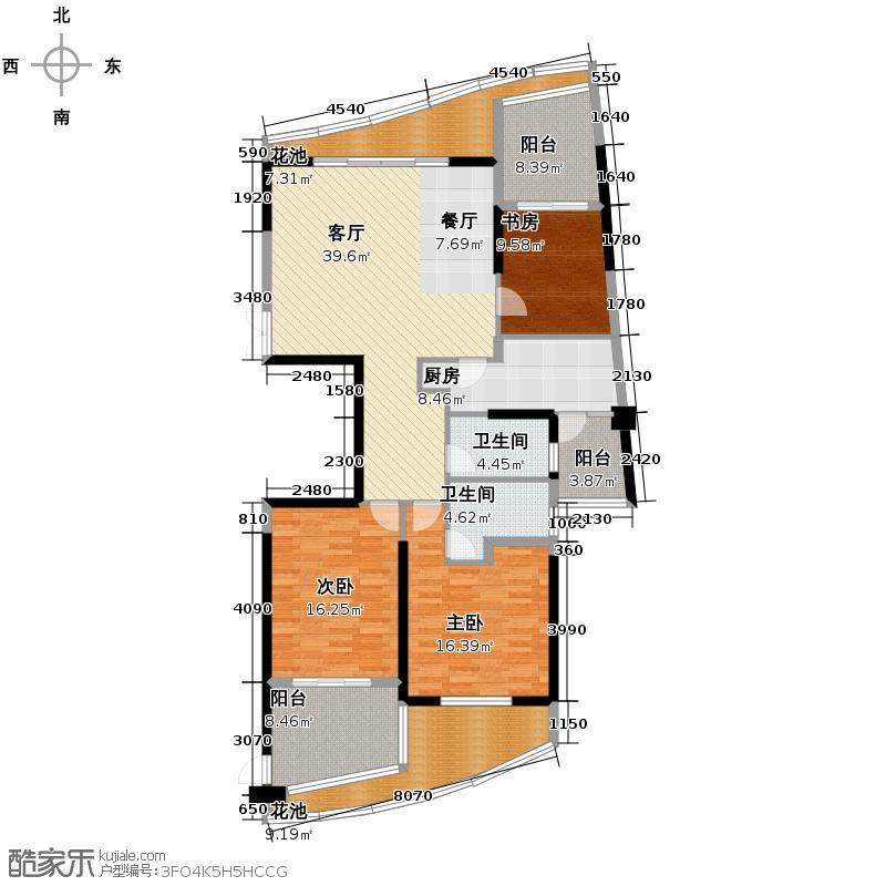 金都汉宫155.05㎡124套户型3室1厅2卫1厨