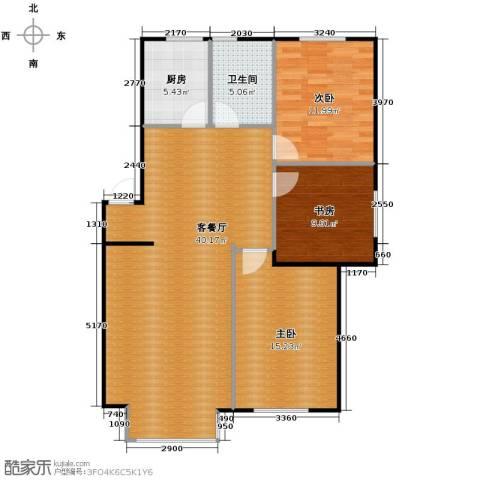 塞纳家园3室1厅1卫1厨117.00㎡户型图