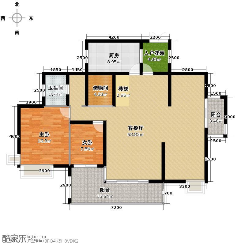 勤诚达雅阁国际142.80㎡7#十七-十八层D2f下户型10室