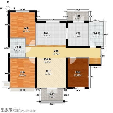 双发金玺城3室2厅1卫0厨150.00㎡户型图