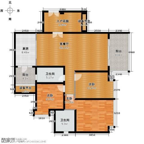 仁和春天国际花园3室2厅2卫0厨137.00㎡户型图