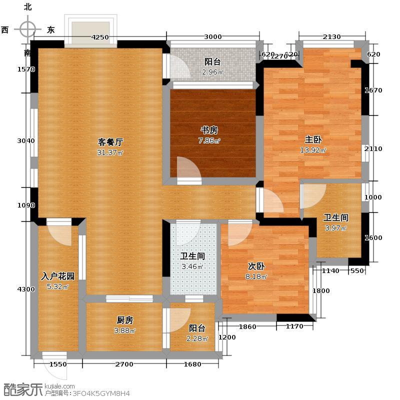 泽科港城国际97.01㎡7栋2、5号房户型3室1厅2卫1厨