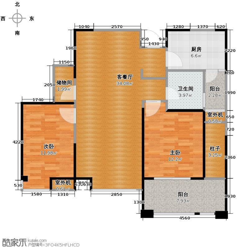 缤纷南郡92.89㎡中铁C1b(奇数层)户型10室