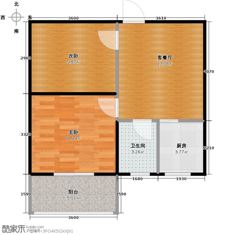 达成馨苑58.48㎡1号楼C户型10室