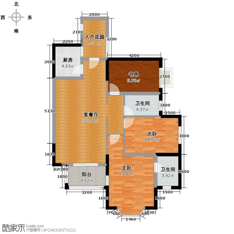 藏龙星天地119.09㎡二期智慧户型3室1厅2卫1厨