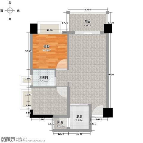 地王广场2室2厅1卫0厨69.00㎡户型图