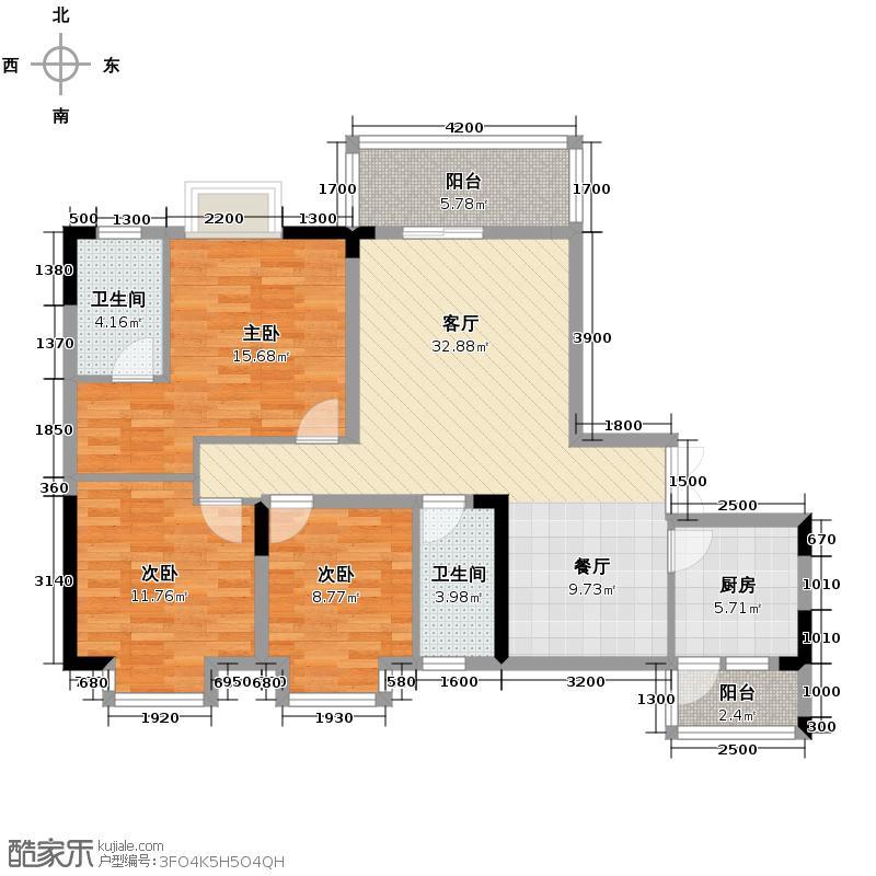 斌鑫西城绿锦104.26㎡户型10室