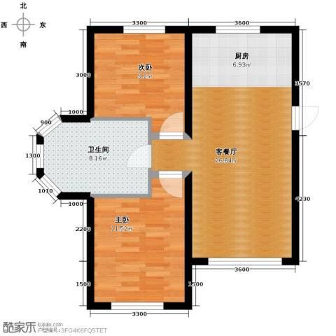 金泰丽舍2室1厅1卫0厨85.00㎡户型图