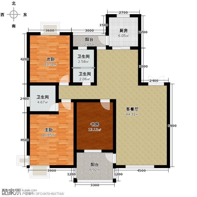 长安中央广场141.09㎡4号楼E1户型10室