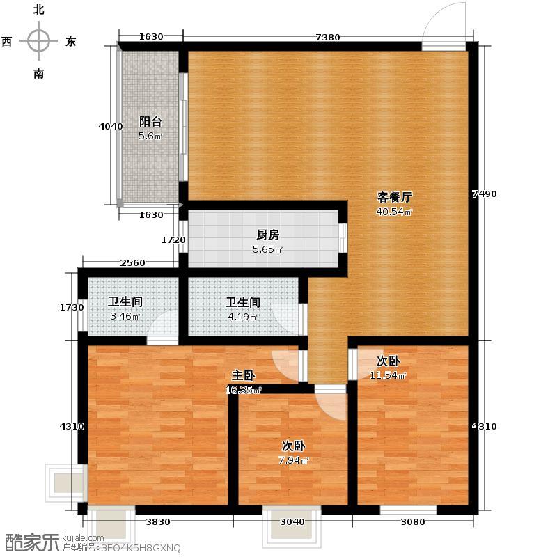 瑞丰新欣城123.94㎡9号楼E户型10室