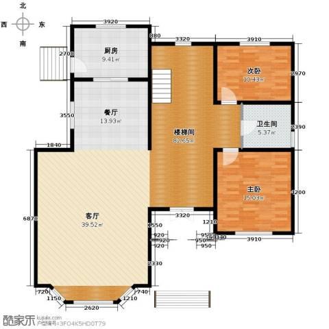 团泊湖庭院165.00㎡户型图