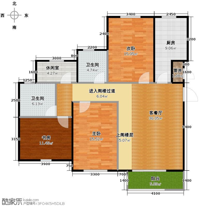 曲院风荷105.00㎡M22829号楼顶层户型3室2厅2卫
