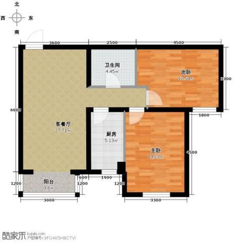 泰达时尚旺角2室2厅1卫0厨95.00㎡户型图