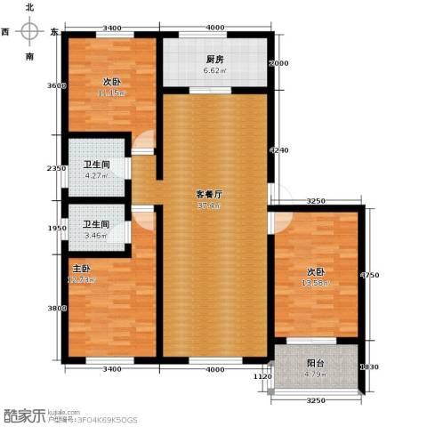 柒麟湾3室2厅2卫0厨135.00㎡户型图