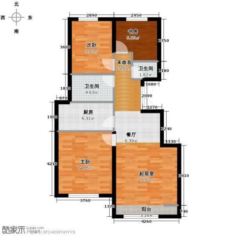 绿宸万华城3室2厅2卫0厨103.00㎡户型图