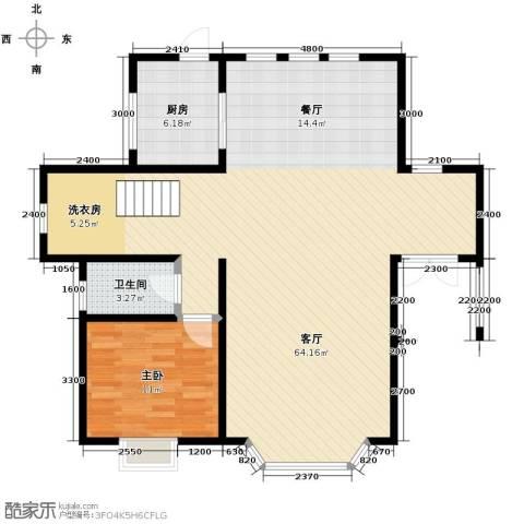 团泊湖庭院116.00㎡户型图