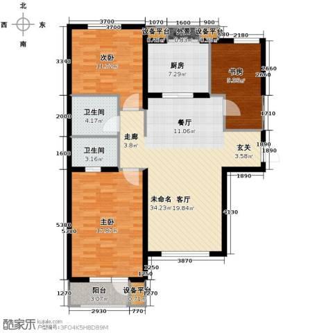 宜和美林3室2厅2卫0厨124.00㎡户型图