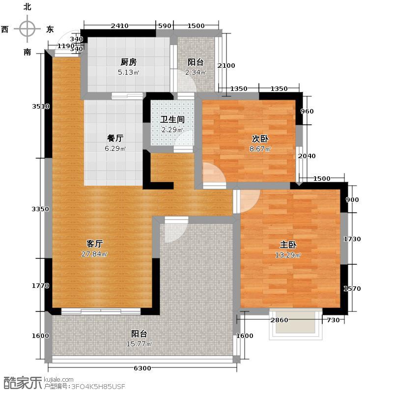 格凌兰92.00㎡一期偶数层G户型10室