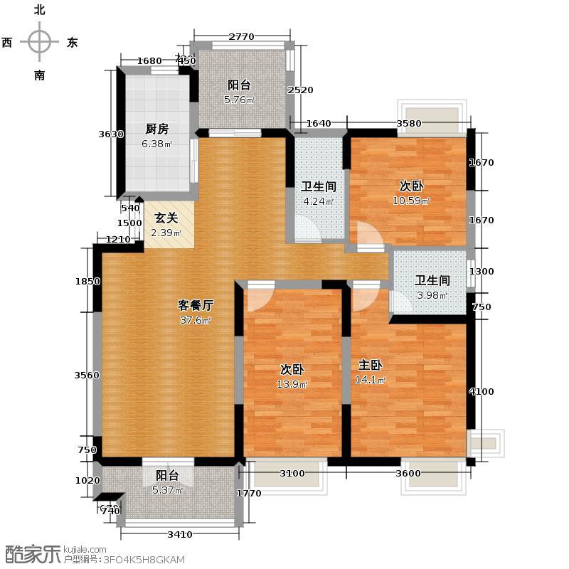 香邑国际143.39㎡1118号楼户型10室