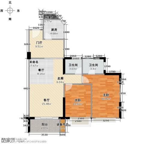 天御2室0厅2卫1厨114.00㎡户型图