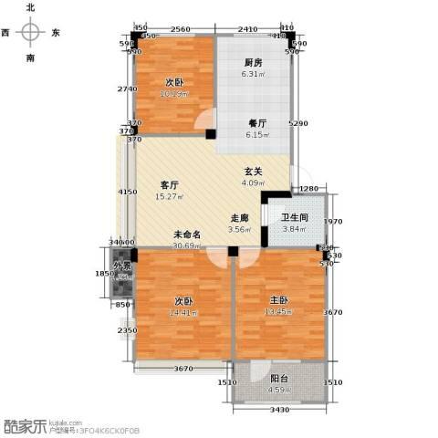 澳海西湖印象3室0厅1卫0厨95.00㎡户型图