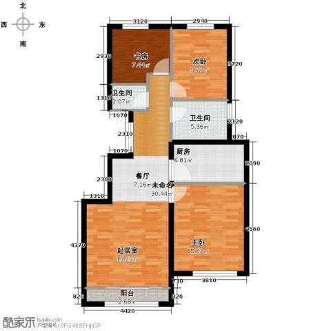 绿宸万华城3室2厅1卫0厨103.00㎡户型图