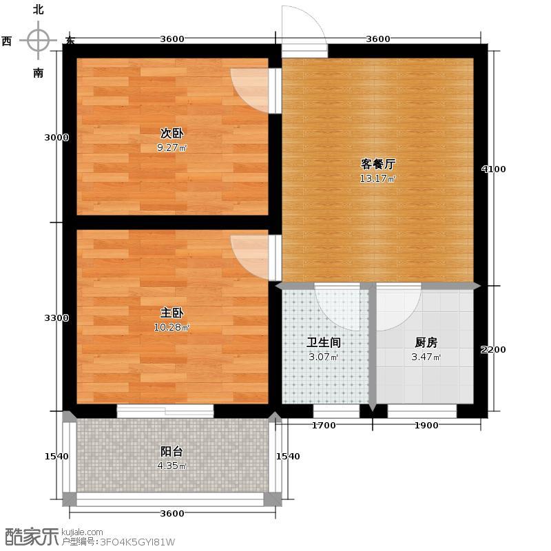 达成馨苑58.48㎡1#G户型10室