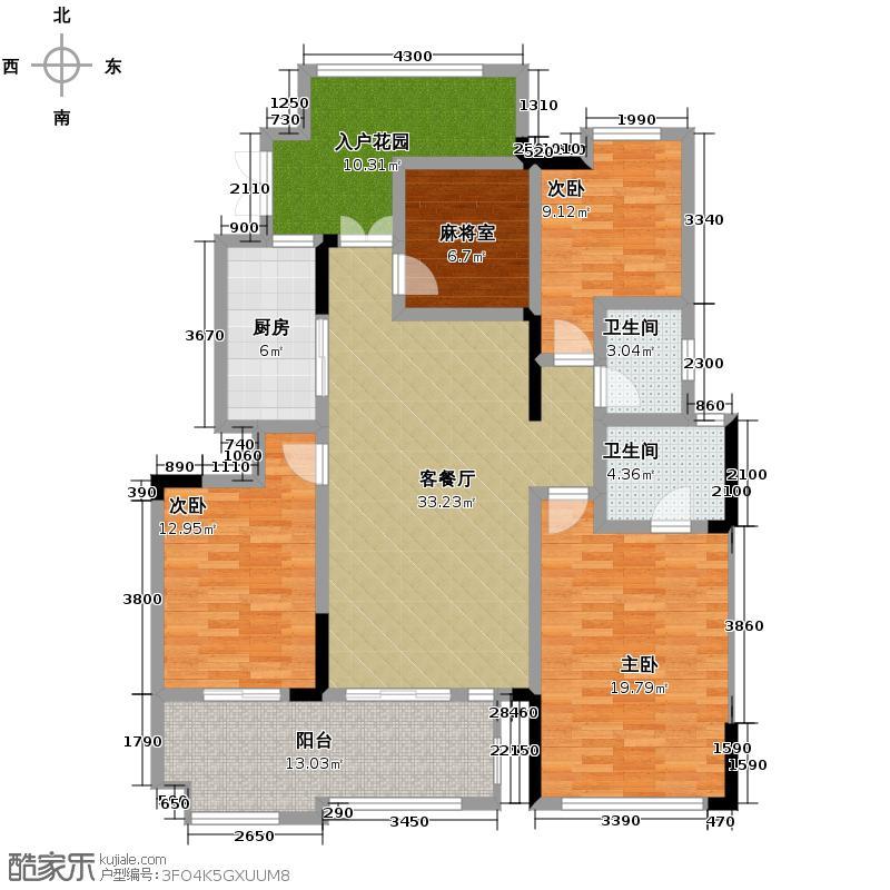 金科廊桥水乡130.30㎡电梯洋房4-9楼一院馆户型3室2厅2卫