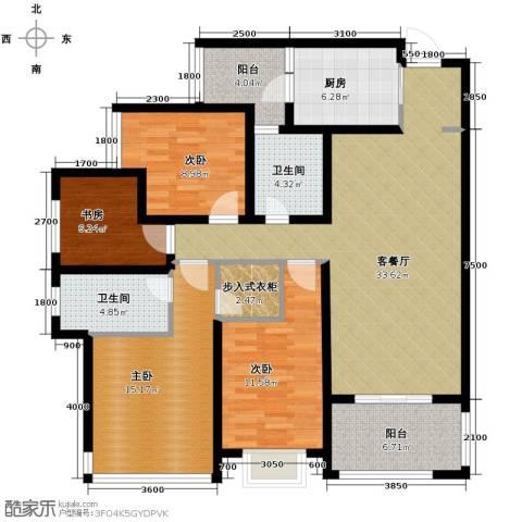 万科悦峰4室1厅2卫1厨119.00㎡户型图