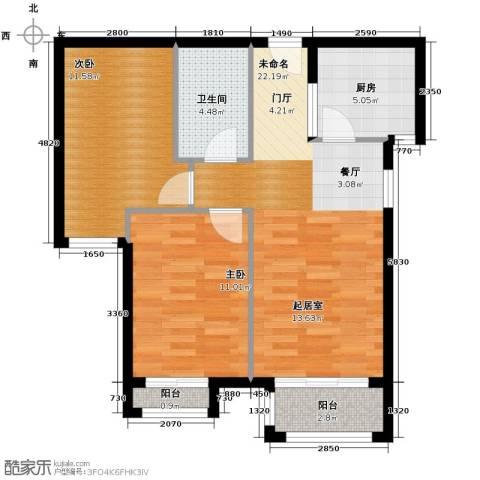 绿宸万华城2室2厅1卫0厨83.00㎡户型图