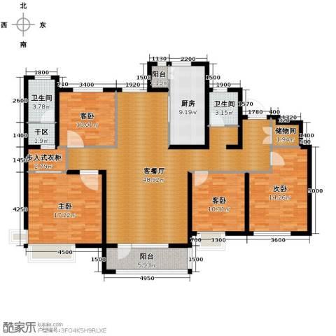 首玺4室2厅2卫0厨177.00㎡户型图