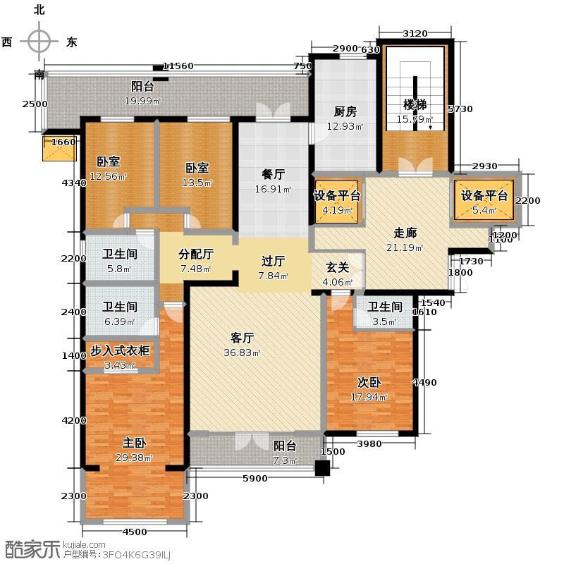 曲江公馆和园241.81㎡G-B1户型10室