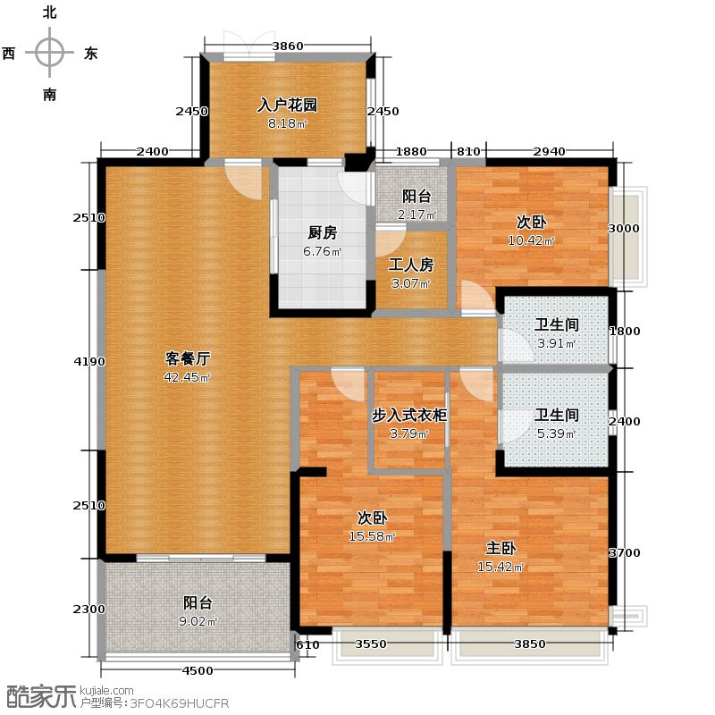 仁和春天国际花园155.94㎡B3户型3室2厅2卫