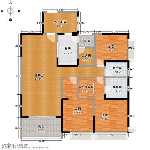 仁和春天国际花园3室2厅2卫0厨156.00㎡户型图
