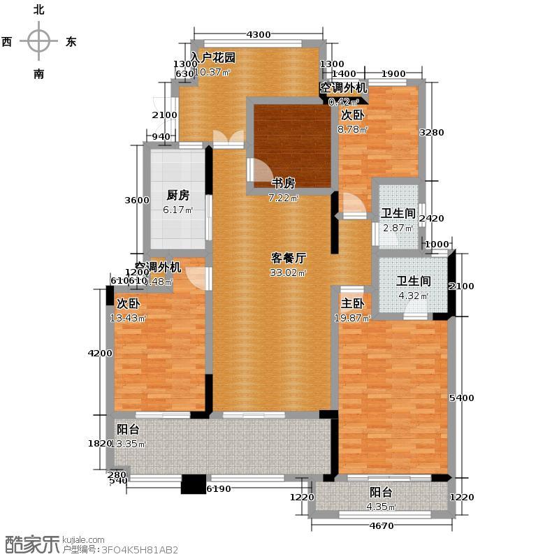 金科廊桥水乡125.16㎡二期17、18栋洋房2楼户型3室2厅2卫