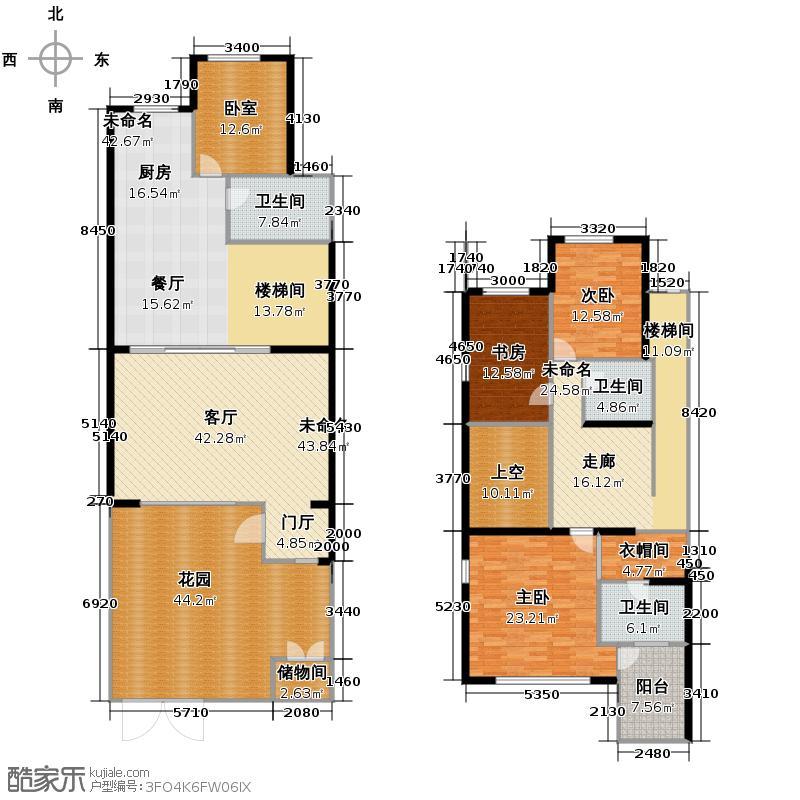 乡居假日282.92㎡A4叠拼别墅77开间1、2层户型10室