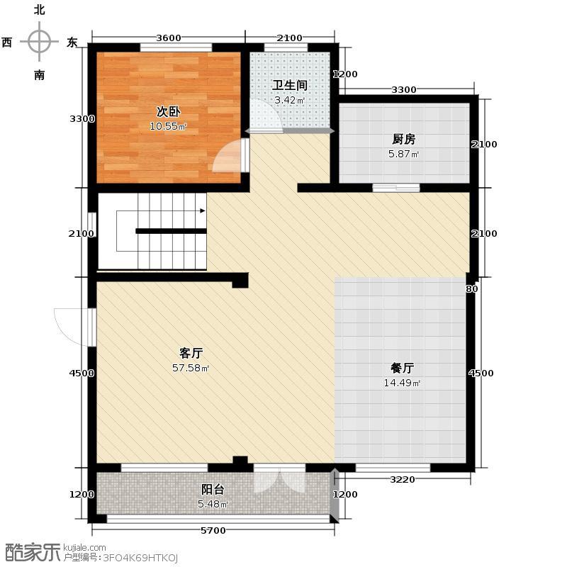 大唐壹号领馆91.57㎡7号楼首层户型10室