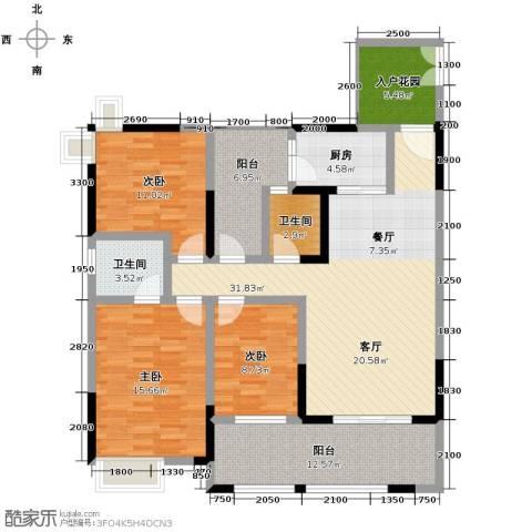 华宇春江花月3室0厅2卫1厨103.25㎡户型图